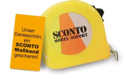 Kostenloses Massband bei Sconto