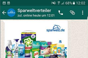 Gratisproben per WhatsApp