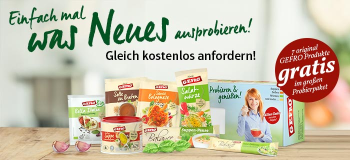 Gefro Probierpaket gratis