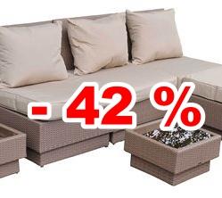 42 Prozent bei Rattanmöbeln sparen
